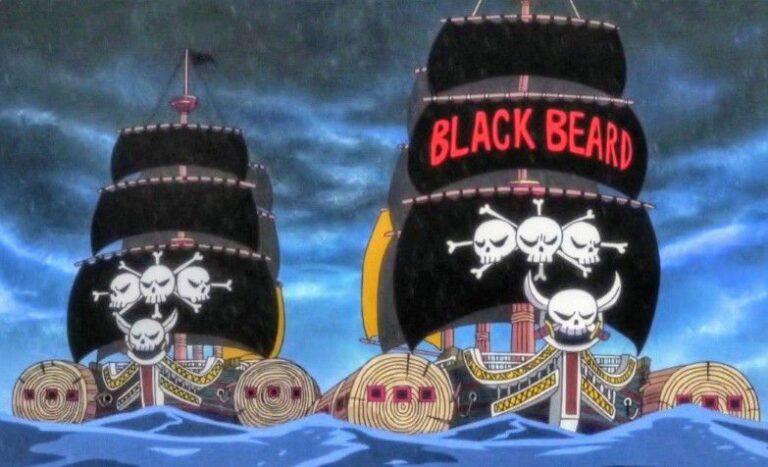 Blackbeard's Pirate Flag in One Piece