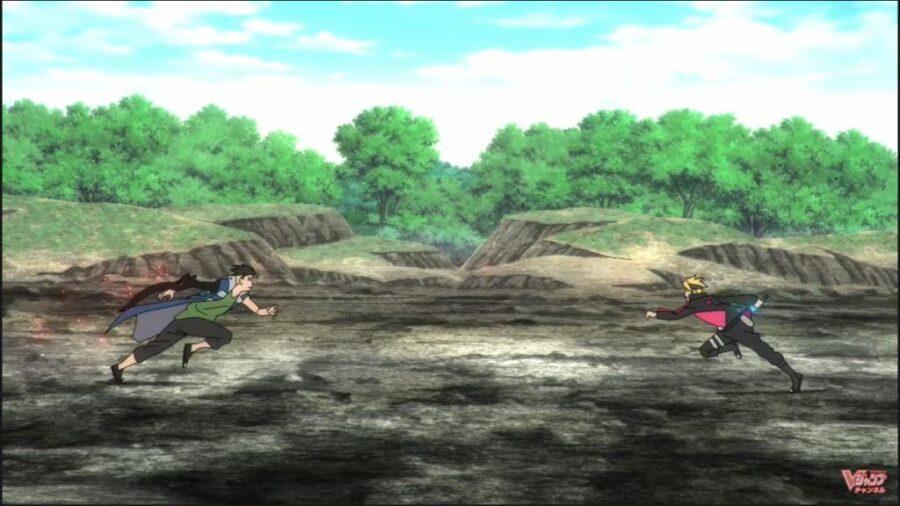 Boruto vs Kawaki Team 7 clash