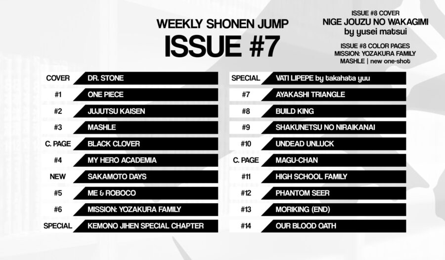 Weekly shonen jump 7 black clover color