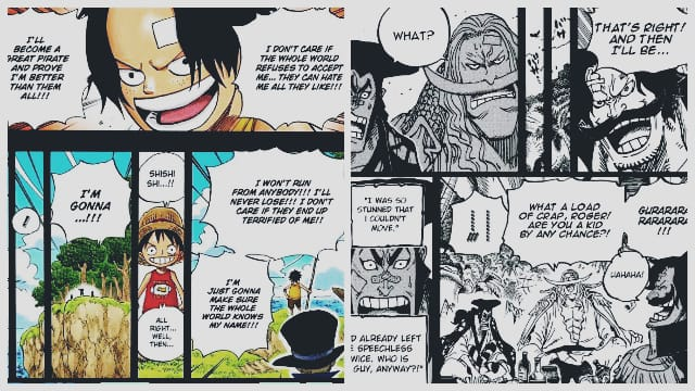 Luffy and Roger dream One Piece